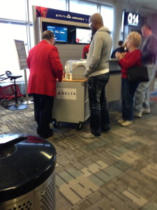 Delta Serving Free Drinks At The Gate For A Late Flight!