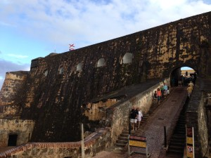 Huge Walls Inside Of The Forts Protecting Puerto Rico Dating Back To 1500's