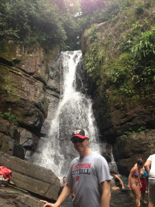 Water Fall At The End Of The Trail In Rain Forest